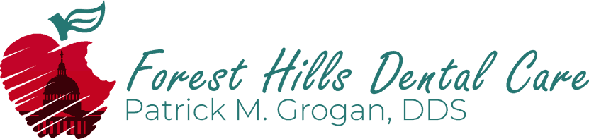 Forest Hills Dental Care bluegreen logo
